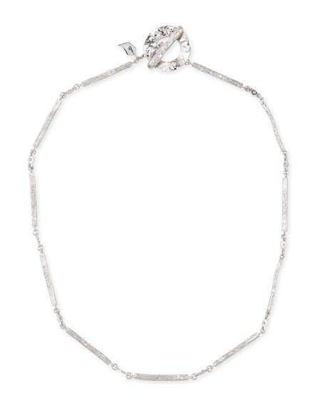 Serenity Silver Twig & Diamond Necklace