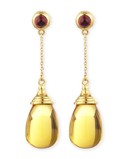 Syna Mogul 18k Citrine Chain Drop Earrings