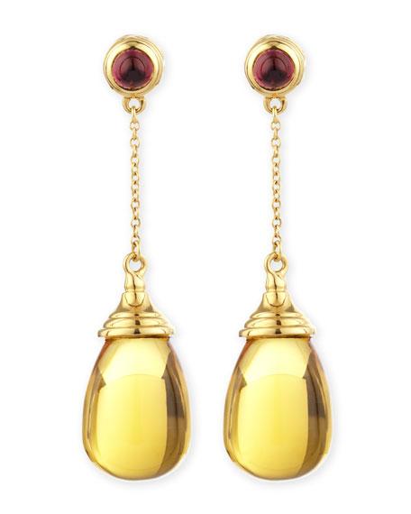 Mogul 18k Citrine Chain Drop Earrings