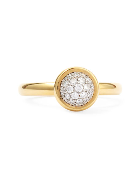 18k Yellow Gold Stacking Baubles Ring, White Diamond