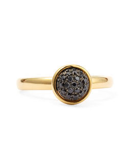 Syna 18k Yellow Gold Stacking Baubles Ring, Black Diamond