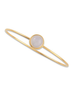 Syna Baubles 18k Yellow Gold Big Stacking Bracelet, Moon Quartz
