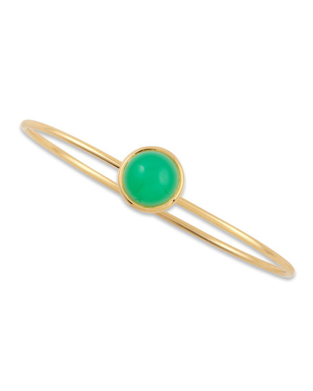 Baubles 18k Yellow Gold Big Stacking Bracelet, Chrysoprase