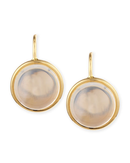 Syna Baubles 18k Large Moon Quartz Earrings
