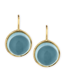 Syna Baubles 18k Large Blue Topaz Earrings