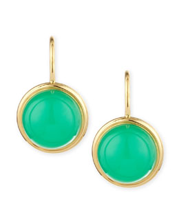 Syna Baubles 18k Large Chrysoprase Earrings