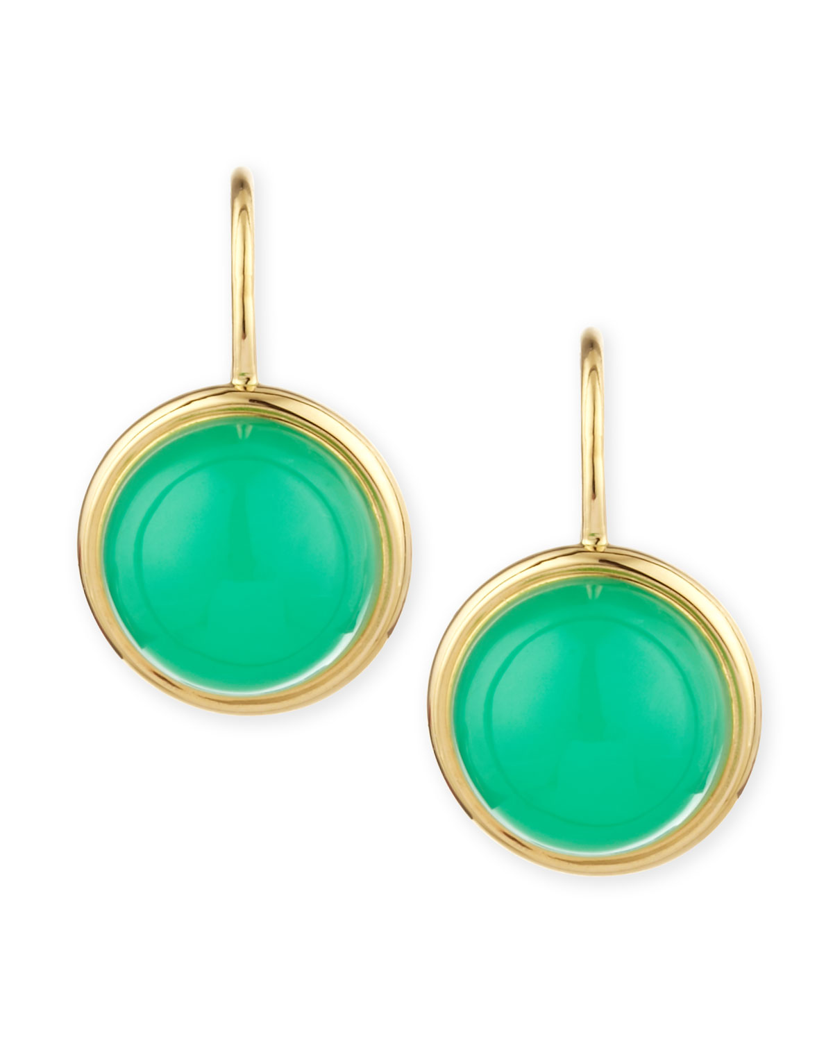 Baubles 18k Large Chrysoprase Earrings