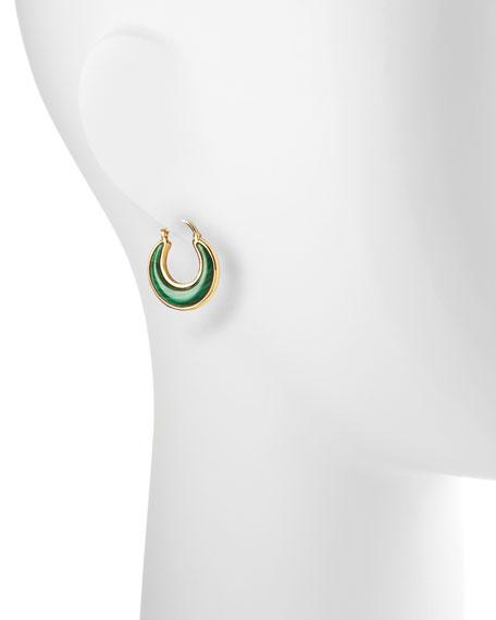 Luna 18k Malachite Earrings