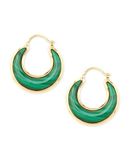Syna Luna 18k Malachite Earrings