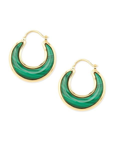 Luna 18k Malachite Earrings