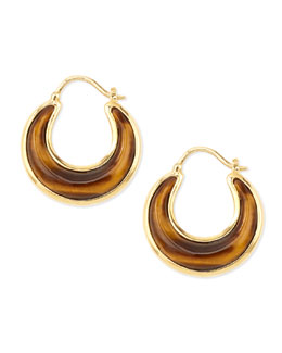 Syna Luna 18k Tiger's Eye Earrings