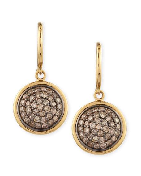 18k 10mm Chakra Champagne Diamond Earrings
