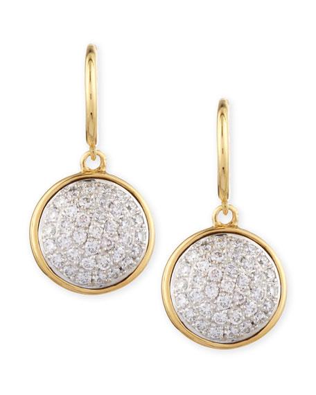 18k 10mm Chakra White Diamond Earrings