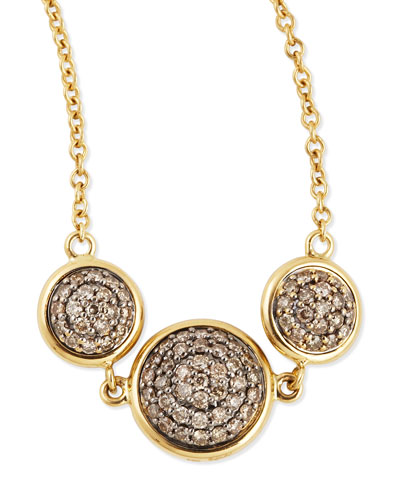 Syna Chakra Reversible Black/Champagne Diamond Necklace