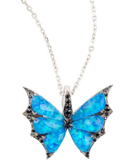 Fly By Night Crystal Haze Minor Flutter Necklace
