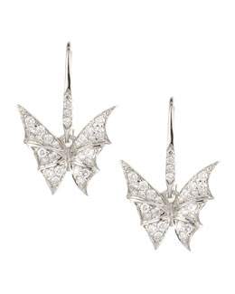 Stephen Webster Fly By Night Mini Bat-Moth Diamond Earrings