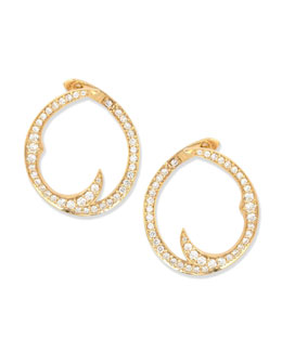 Stephen Webster Pave Diamond Thorn Single Hoop Earrings