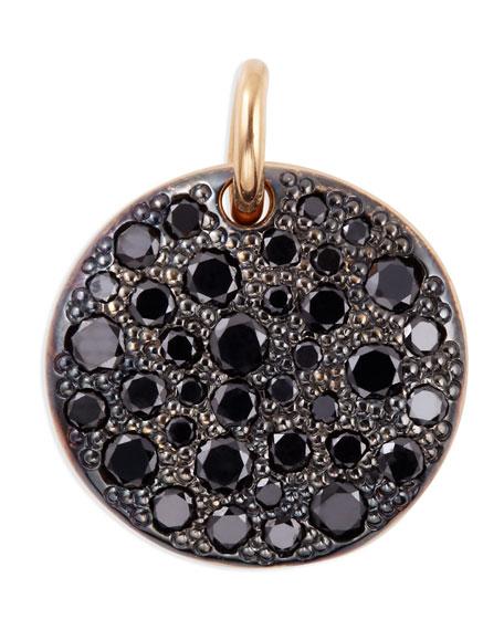 Sabbia 18k Rose Gold & Black Diamond Pendant