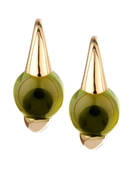 M'ama Non M'ama 18k Gold Peridot Earrings
