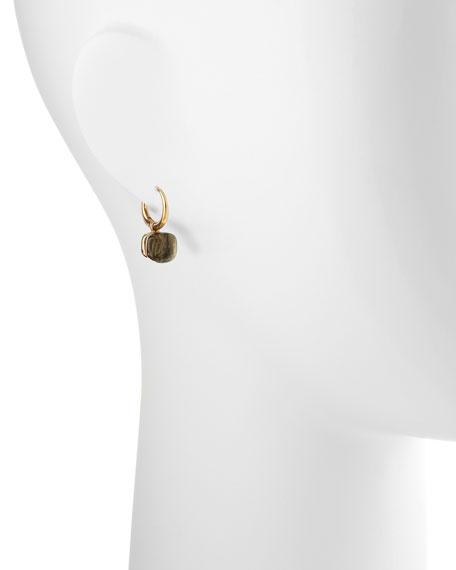 Nudo Small 18k Gold Prasiolite Earrings