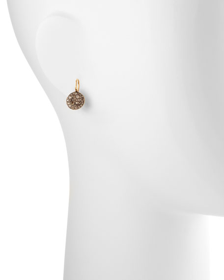 Sabbia White Pave Diamond Earrings, 0.78 TCW