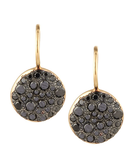 Pomellato Sabbia Black Pave Diamond Earrings, 0.78 TCW