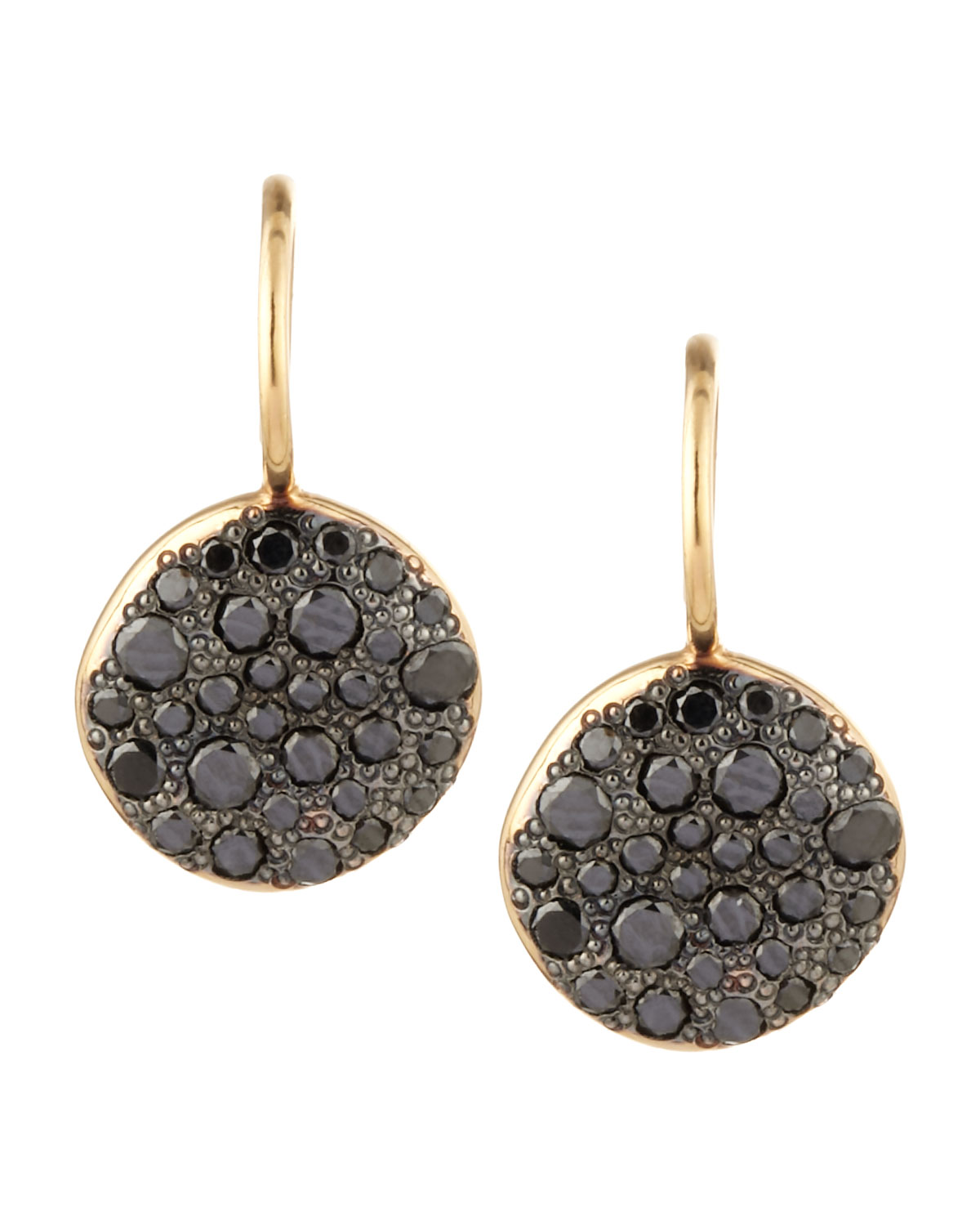 POMELLATO Sabbia Brown Pave Diamond Earrings, 0.78 TCW