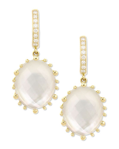Frederic Sage Tivoli Oval Mother-of-Pearl & Diamond Earrings