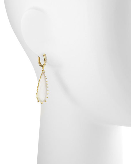 Tivoli Teardrop Mother-of-Pearl & Diamond Earrings