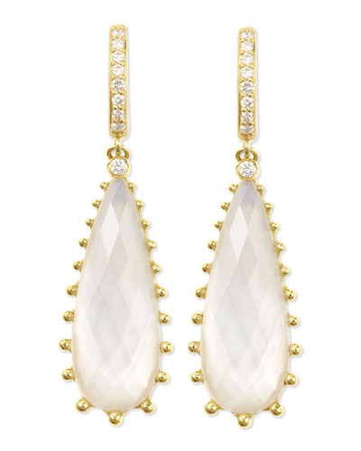 Frederic Sage Tivoli Teardrop Mother-of-Pearl & Diamond Earrings