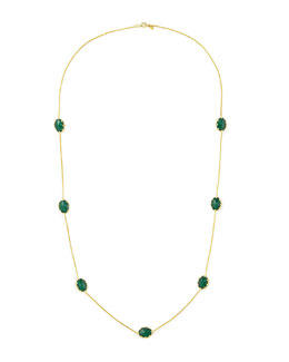 "Frederic Sage Tivoli Malachite Station Necklace, 36""L"