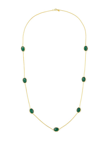 "Tivoli Malachite Station Necklace, 36""L"