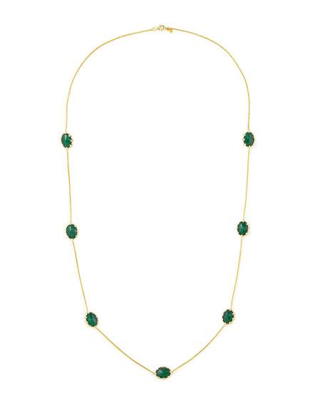 """Tivoli Malachite Station Necklace, 36""""L"""