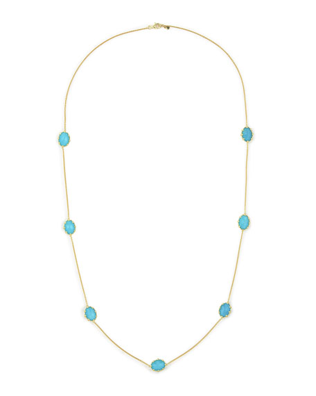 "Tivoli Turquoise Station Necklace, 36""L"