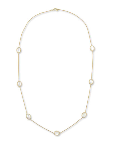 "Frederic Sage Tivoli White Mother-of-Pearl Station Necklace, 36""L"