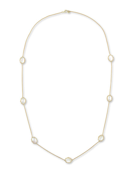 "Tivoli White Mother-of-Pearl Station Necklace, 36""L"