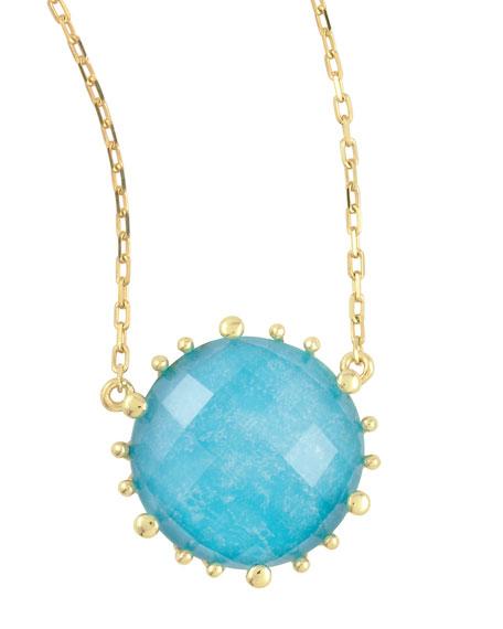 "Tivoli Turquoise Pendant Necklace, 17""L"