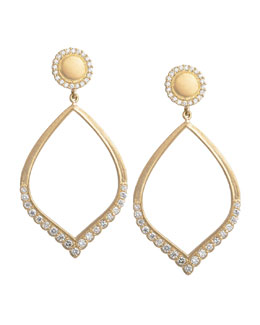Jamie Wolf Open Scalloped Petal Earrings with Diamonds