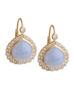 Jamie Wolf Diamond Edge Bisou Earrings with Blue Chalcedony
