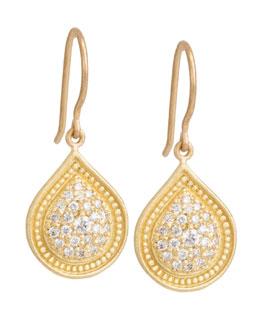 Jamie Wolf Bohemian Pave Pear Earrings with Diamonds
