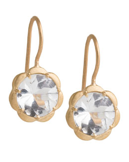 Jamie Wolf Scalloped White Topaz Drop Earrings