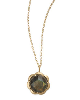 Jamie Wolf Large Scallop Labradorite Drop Necklace