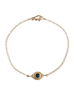 Jamie Wolf Evil Eye Bracelet with Sapphire & Diamonds