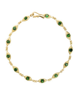 Jamie Wolf Linked Leaf Bracelet with Tsavorite
