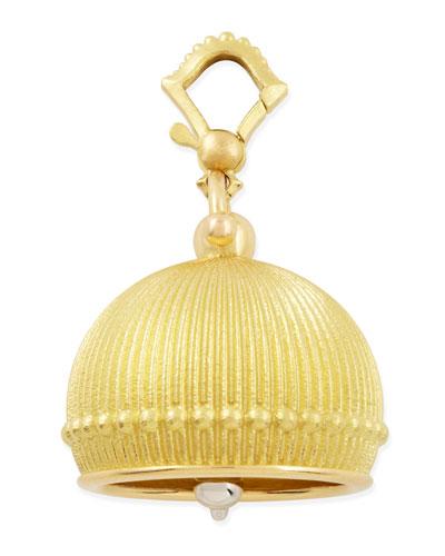 Paul Morelli 18k #6 Ridged Meditation Bell Pendant, 19mm