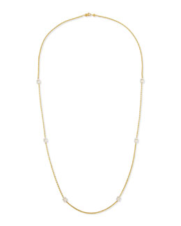 Ivanka Trump 18k Gold Necklace with Diamond Stations, 36""