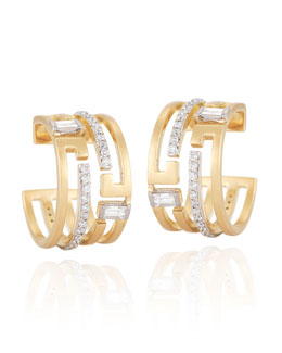 Ivanka Trump Metropolis 18k Diamond Geometric Hoop Earrings