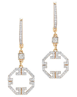 Ivanka Trump Metropolis 18k Octagonal Pave Diamond Earrings