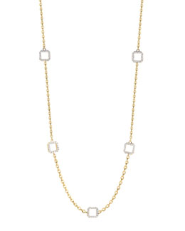 Ivanka Trump Metropolis 18k 5-Diamond-Cube & Link Necklace