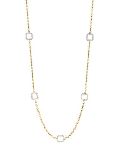 Ivanka Trump Metropolis 18k 5-Diamond-Cube & Link Necklace